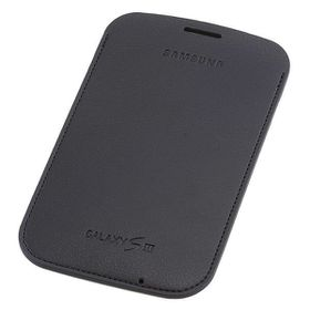 Samsung Galaxy S3 Leather Pocket Pouch - Navy Blue