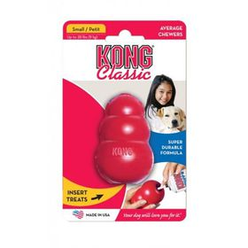 Kong Dog Toy Classic - Small (Dog Weight 1-10kg) Red