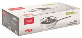 Legend - Euro Chef 4 Cup Non-Stick Stainless Steel Egg Poacher