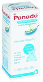 Panado Paediatric Syrup 100ml Alcohol/Sugar Free 8083
