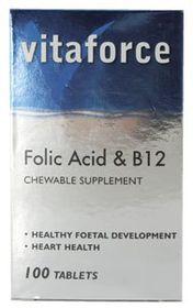 Vitaforce Folic Acid & B12 Tablets 100