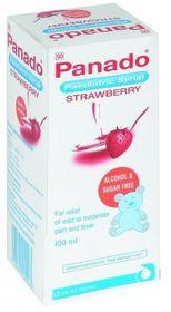 Panado Paediatric Syrup 100ml Strawberry 211075