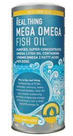 The Real Thing Mega Omega Fish Oil Lemon - 200ml