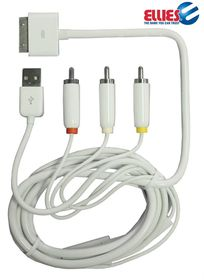 Ellies Composite Cable with USB for iPod/iPhone