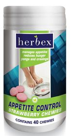 Herbex Appetite Control Chewies - 40 Strawberry