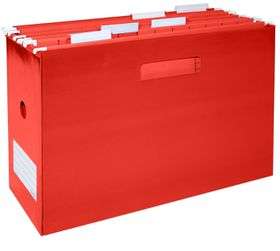 Bantex Portable Suspension File Box - Red