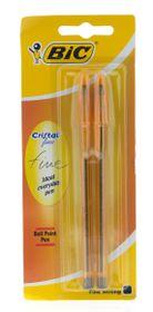BIC Cristal Fine Ballpoint Pens - Black (Bister of 2)