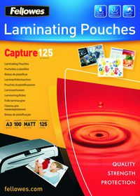 Fellowes Enhance80 A3 Matt Laminating Pouches - 80 micron (Pack of 100)