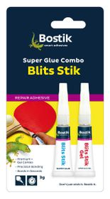 Bostik Blits Stik Super Glue Combo Pack