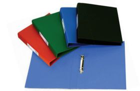 Croxley S1330 A4 2 O-Ring 25mm Polyprop Ringbinder with Pocket - Green