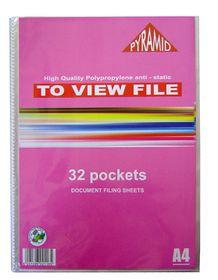 Croxley Pyramid Display File - 32 Pocket