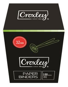 Croxley Paper Grip Binders - 32mm (Box of 100)