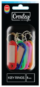 Croxley Key Rings - Blister of 8