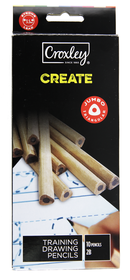 Croxley Create Triangular Graphite Drawing Pencils - 2B (Pack of 10)