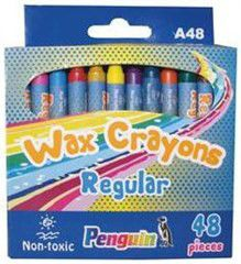 Penguin A48 Wax Crayons - (Box of 48)