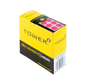 Tower C10 Colour Code Labels - Fluorescent Pink