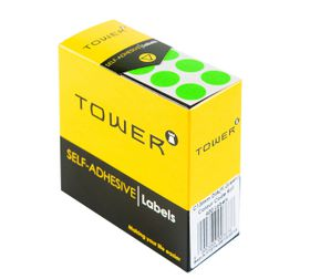 Tower C13 Colour Code Labels - Fluorescent Green