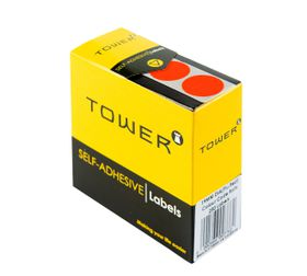 Tower C19 Colour Code Labels - Fluorescent Red