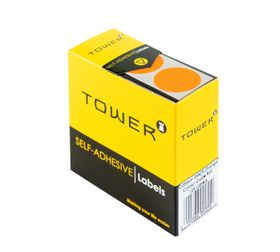 Tower C25 Colour Code Labels - Fluorescent Orange