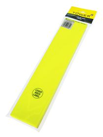 Tower Lever Arch Labels - Fluorescent Lime (Pack of 100)