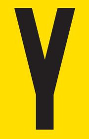 Tower Adhesive Letter Sign - Small Y