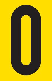 Tower Adhesive Number Sign - Small 0