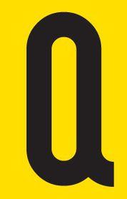 Tower Adhesive Letter Sign - Medium Q