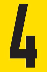 Tower Adhesive Number Sign - Medium 4