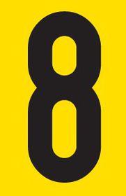 Tower Adhesive Number Sign - Medium 8