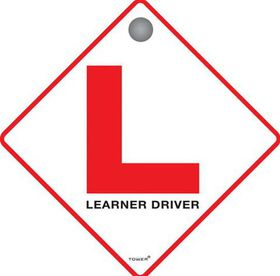Tower ABS Sign with Suction Cup - Learner Driver