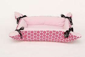 Wagworld - Cupcake Dog Bed - Pink Polka Dot - Midi