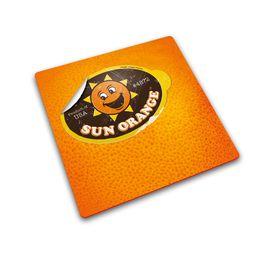 Joseph Joseph - Worktop Saver Glass Chopping Board - Orange Sticker Design