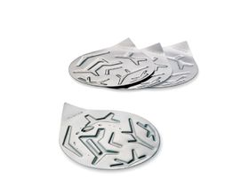Nuance - Set of 4 Stainless Steel Coasters - Silver