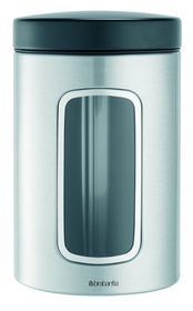 Brabantia - Window Canister - Matt Steel