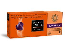 Ethical Coffee Company Lungo Forte Coffee Capsules - Sleeve of 10