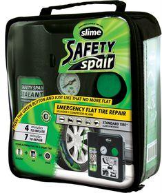 Slime - Safety Spair Emergency Flat Tyre Repair Kit - Standard Tyres
