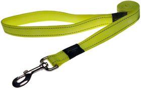 Rogz - Utility Fanbelt Fixed Dog Lead - Large - Yellow Reflective