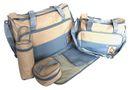 Baby Kingdom 5 Piece Diaper Bag Set - Light Blue