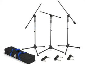 Samson Audio BL3VP Microphone Stand - Black 3 Pack