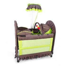 Chelino - 6-in-1 Cot - Brown and Green