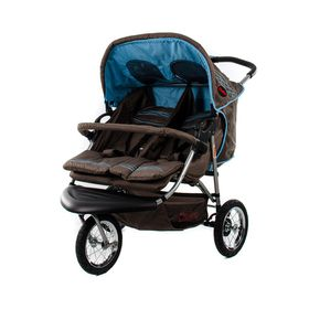 Chelino - Twin 3 Wheel Side By Side Stroller - Ocean