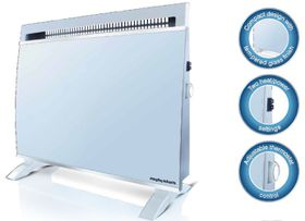 Morphy Richards - Floor or Wall Mount Glass Heater - White