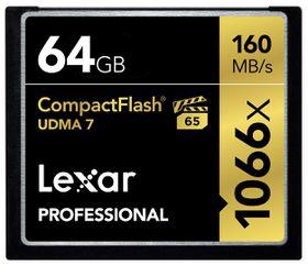 Lexar 64GB Professional 1066x UDMA 7 Compact Flash Card