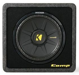 Kicker - CompS Loaded Enclosure (2 Ohm) 12