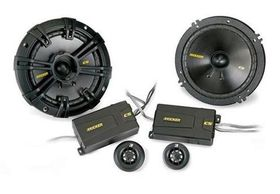 "Kicker CS series 6.5"" 160mm Component System 4/20mm Tweeter Pair 4OHM"
