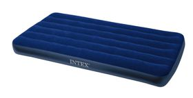 Intex - Junior Twin Classic Downy Air-Bed - Blue
