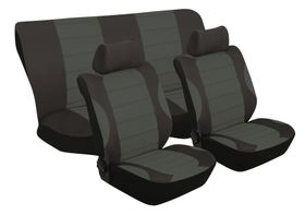 Stingray - Grand Prix Polyester 6 Piece Seat Cover Set- Anthracite