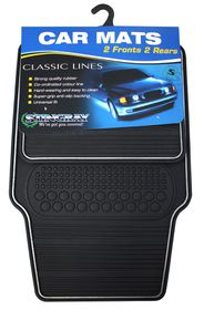 Stingray - Classic Rubber Mat Set - Black