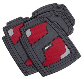 Stingray - Quadrimat 4 Piece Car Mat Set - Red