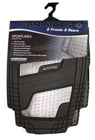 Stingray - Quadrimat 4 Piece Mat Set - Carbon Fibre